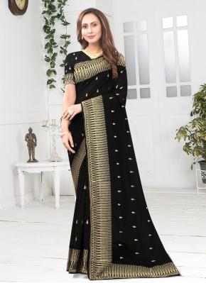Entrancing Black Designer Saree