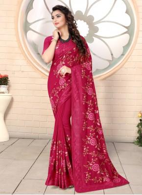 Entrancing Pink Ceremonial Classic Saree