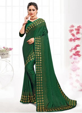 Epitome Green Party Classic Saree