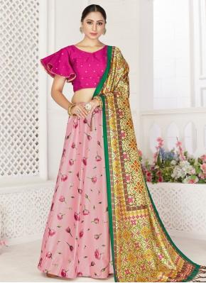Especial Digital Print Pink Readymade Lehenga Choli