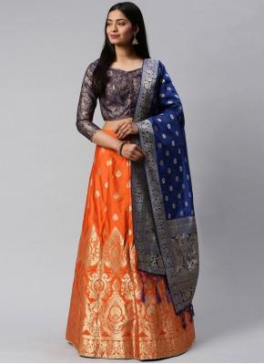 Especial Weaving Banarasi Silk Lehenga Choli