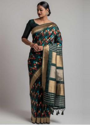 Especial Weaving Black Designer Traditional Saree