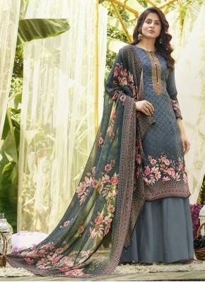 Ethnic Designer Palazzo Suit For Festival