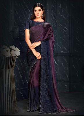 Ethnic Fancy Fabric Purple Fancy Designer Traditional Saree