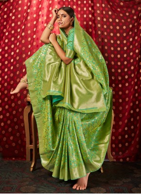 Ethnic Weaving Silk Traditional Saree