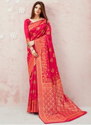 Exceeding Pink Contemporary Saree