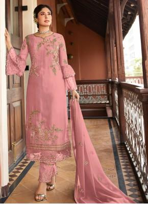 Excellent Georgette Embroidered Trendy Salwar Kameez
