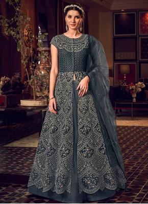 Excellent Resham Long Length Anarkali Salwar Suit