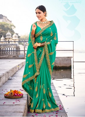 Exciting Embroidered Traditional Designer Saree