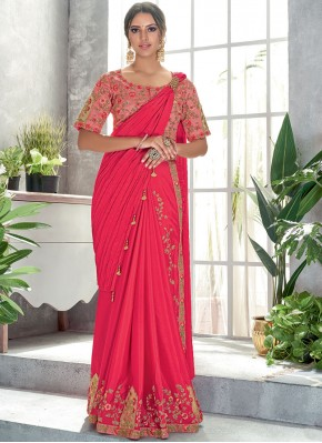 Exciting Pink Classic Designer Saree
