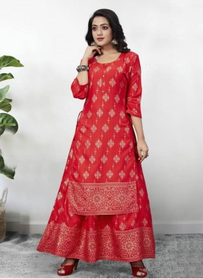 Exciting Rayon Festival Party Wear Kurti