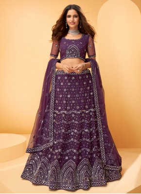 Exquisite Purple Engagement Trendy Lehenga Choli