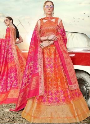 Exuberant Banarasi Silk Embroidered A Line Lehenga Choli