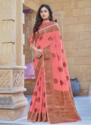 Exuberant Handloom Cotton Woven Classic Designer Saree