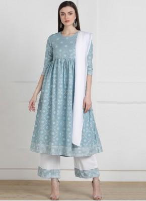 Eye-Catchy Printed Cotton Multi Colour Casual Kurti