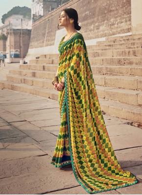Fab Floral Print Multi Colour Casual Saree