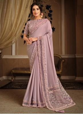 Fab Pink Embroidered Classic Designer Saree