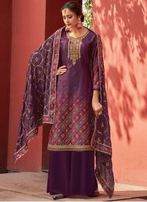 Fabulous Designer Palazzo Salwar Suit For Festival
