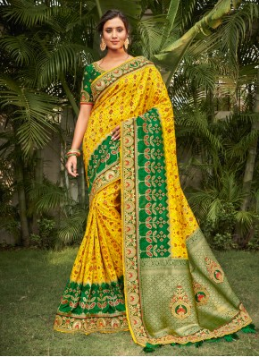 Fabulous Embroidered Silk Traditional Saree