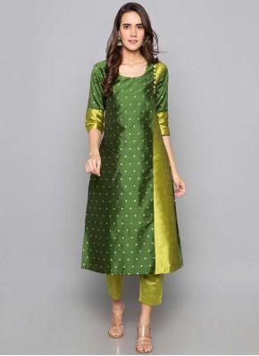 Fancy Art Silk Party Wear Kurti in Green
