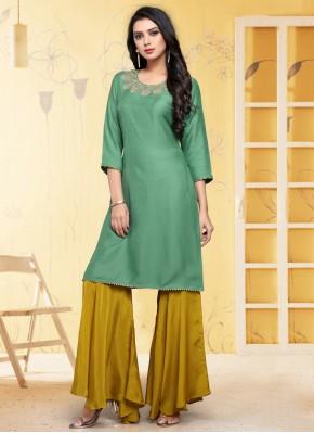 Fancy Fabric Fancy Rama Party Wear Kurti