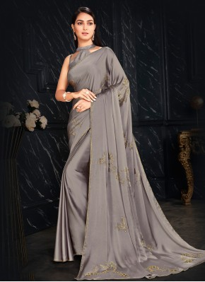Fancy Fabric Grey Fancy Classic Designer Saree