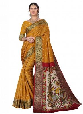 Fancy Fabric Multi Colour Designer Traditional Saree