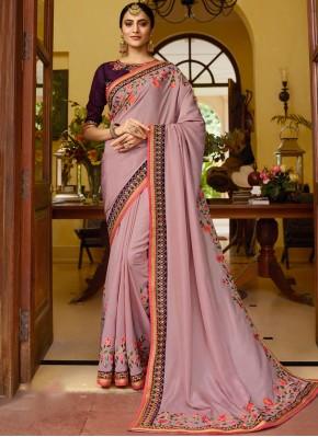 Fancy Fabric Pink Classic Saree