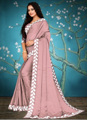 Fancy Fabric Pink Traditional Saree