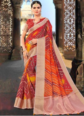 Fancy Fabric Shaded Saree in Multi Colour