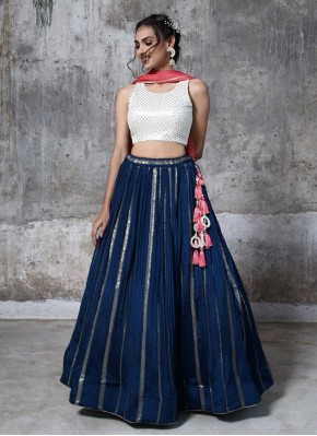 Fantastic Chiffon Sequins Work Designer Readymade Lehngha Choli