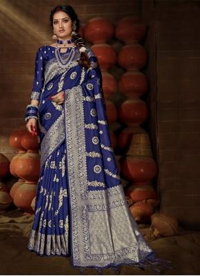 Fantastic Weaving Banarasi Silk Designer Traditional Saree