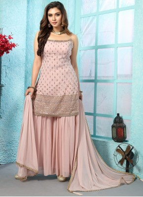 Fascinating Embroidered Designer Ready made Palazzo Dress