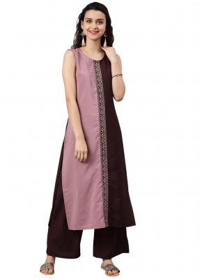 Fashionable Multi Colour Faux Crepe Casual Kurti