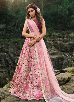 Fashionable Multi Colour Trendy Lehenga Choli