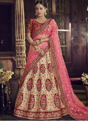 Fashionable Pink Art Silk Lehenga Choli