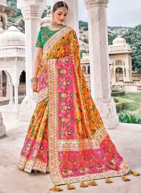 Festal Silk Patch Border Bollywood Saree