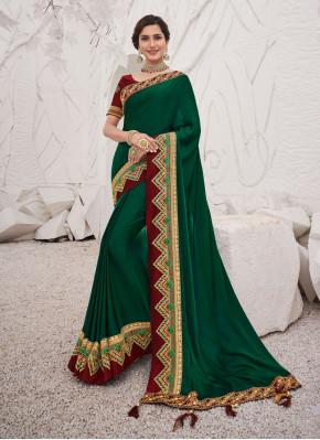 Fetching Green Classic Saree