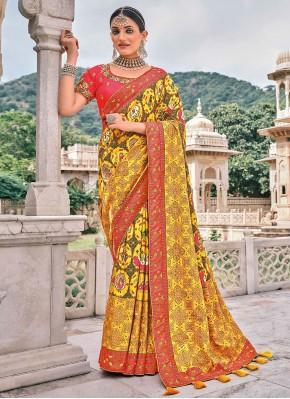 Fetching Silk Reception Traditional Saree