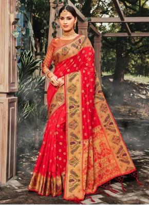 Fine Banarasi Silk Ceremonial Contemporary Saree