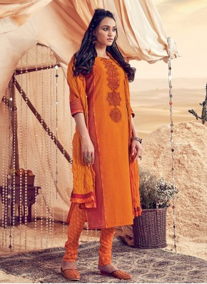 Fine Embroidered Churidar Salwar Kameez