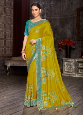 Fine Green Designer Saree