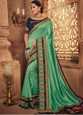 Flattering Green Art Silk Traditional Designer Saree