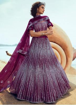 Flattering Sequins Wedding Lehenga Choli