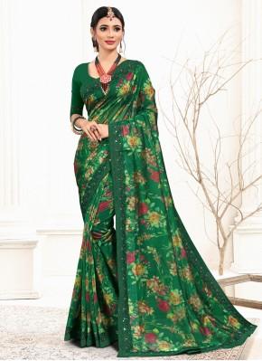 Flawless Green Classic Saree