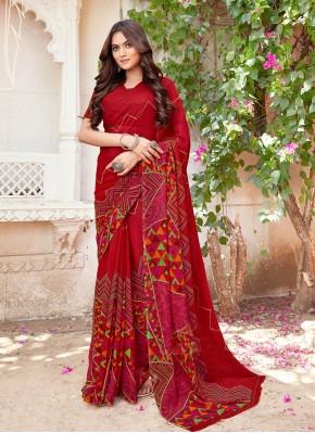 Flawless Printed Printed Saree