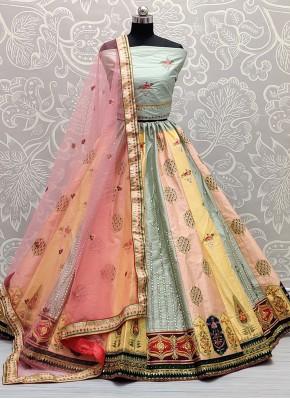 Flawless Thread Multi Colour Silk Lehenga Choli