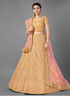 Floral Art Silk Wedding Bollywood Lehenga Choli