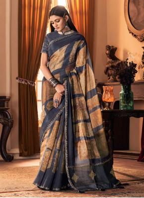 Floral Multi Colour Printed Designer Traditional Saree