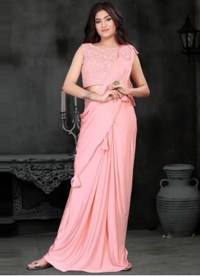 Floral Pink Classic Designer Saree